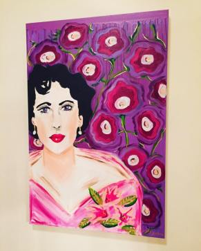 """Elizabeth's Violet Eyes"" 36x24 Acrylic on canvas $675 SOLD"