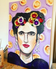 Frida and Salted Caramel - 24x36 Mixed Media $750