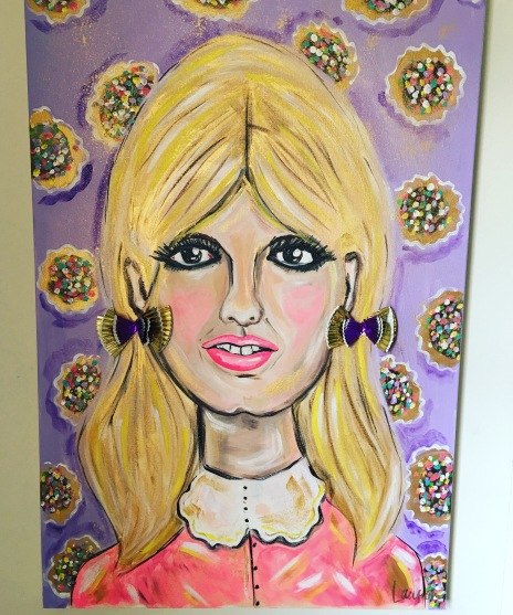 Brigitte's Birthday - 24x36 Mixed Media $650