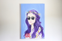 """Katy at Coachella"" 36x24 Acrylic on canvas $650"
