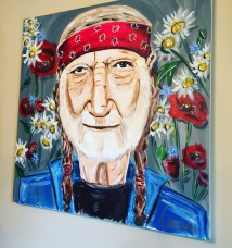 """All American Willie"" 36x36 Acrylic on canvas $750 SOLD"