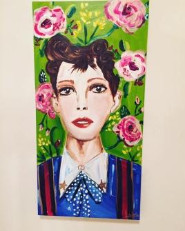 """Judy in Gucci"" 30x15 Acrylic on canvas $450"